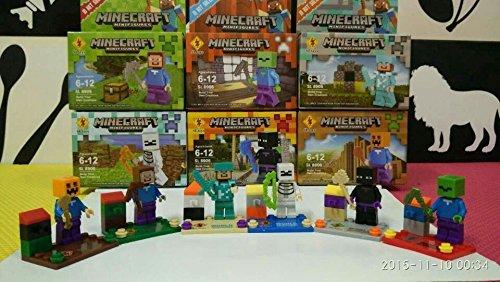 [6 pcs with 6 boxes Minecraft Mini Action Figures Toys Games Christmas Gift] (Sainsburys Batman Costume)