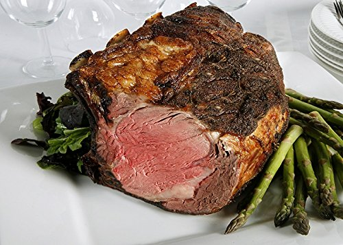 Chicago Steak Ribeye Roast - Have a Taste of Delicious Prime Beef! - USDA Prime Dry Aged Bone-In Heart Rib Roast Beef (8-9 Lbs.) - Gourmet Food Steak Set -PSG013 PRIMED Aged Steak