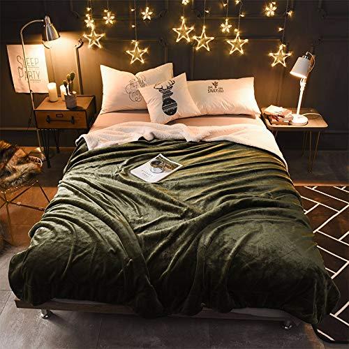 Vert 150200cm Ruixinshi Couvertures en Flanelle épaissir Super Doux au Chaud Moelleux jetés pour lit pour canapé Couverture de en Microfibre, 150  200cm, Vert