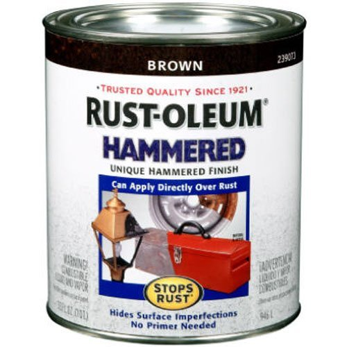 Rust-Oleum 239073 Hammered Metal Finish, Brown, - Metal Brown