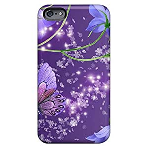 dirt-proof phone cases covers High Grade Cases Shock-dirt iphone 5 / 5s - blue bells on purple