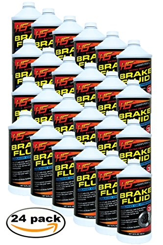 HS Extra Heavy Duty DOT 3 Brake Fluid -(32 Oz, Pack 24) by HS