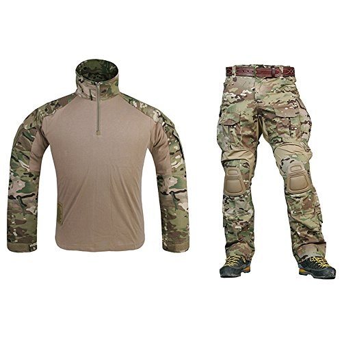 EMERSONGEAR Tactical Pants Shirt US Army Camo Airsoft Paintball BDU Uniform Pants - Paint Airsoft Camo