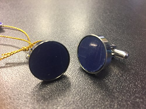 Legendary Man Texas Stadium Seat Blue Round and SILVER custom crafted Cuff Links - Legendary Jewelry Co. Virginia, - Texas Rounds Silver
