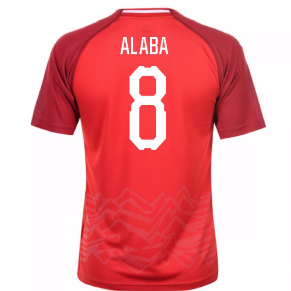 2018-19 Austria Home Football Soccer T-Shirt Trikot (David Alaba 8)