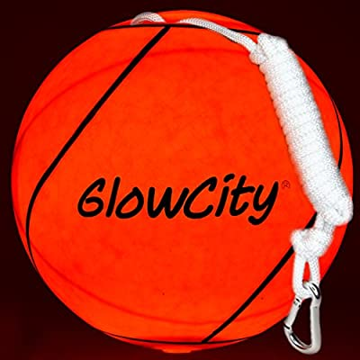 GlowCity LED Light Up Tetherball-Uses Hi Bright LED Light-Better Than Glow in The Dark : Sports & Outdoors
