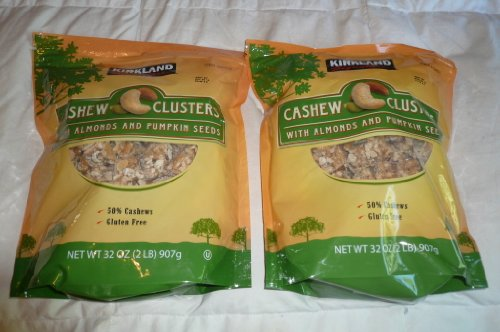 Kirkland Cashew Clusters with Almonds and Pumpkin Seeds Gluten Free 32 oz (Pack of 2) by Kirkland Signature (Image #2)