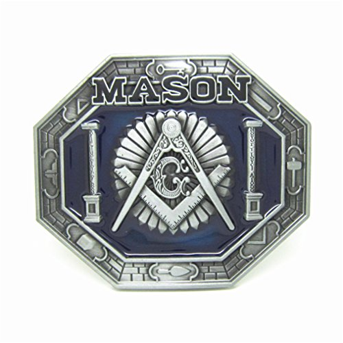 MASOP Compasses Freemason Mason Belt Buckle Symbols Masonic Belt Buckle Rings for Men