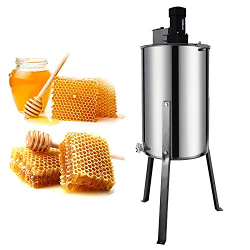 Happybuy Electric Honey Extractor Stainless Steel Honeycomb Drum Spinner Beekeeping Equipment with Strainer, 2 Frame,
