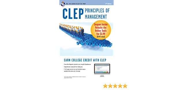 Amazon com: CLEP Principles of Management with Online