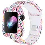 XiangMi Soft Protective Case with Strap Bands Compatible Apple Watch/iWatch Series 3 Series 2 Series 1 Sport Edition,Silicone Rubber Watch Case Strap Bracelet Compatible iWatch 38mm 42mm All Models