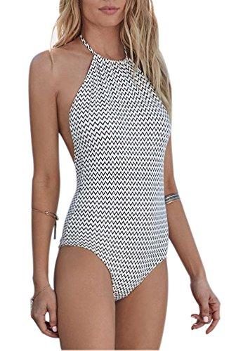 Creabygirls Womens Backless Swimsuits Swimwear