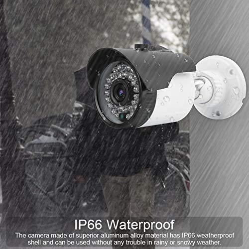 Outdoor Security Camera, 4-in-1 5MP HD CCTV Surveillance Camera, IR-Cut Monitor, IP66 Waterproof, Night Vision, Motion Detection, Activity Alert, Deterrent Alarm(NTSC)