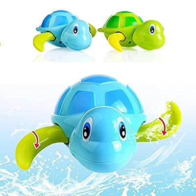 New Born Babies Swim Turtle Wound-Up Chain Small Animal Baby Children Bath Toy Classic Toys (Set of Two: Blue and Green) by Early Sunrise that we recomend personally.