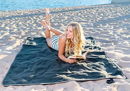 Brawntide Large Outdoor Waterproof Blanket – Quilted, Extra Thick Fleece, Warm, Windproof, Sandproof, Includes Stuff…