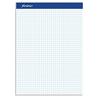 Ampad Evidence Quad Dual-Pad, Quadrille Rule, Letter Size (8.5 x 11.75), White, 100 Sheets per Pad (20-210) (B000JCTH2Q) | Amazon Products