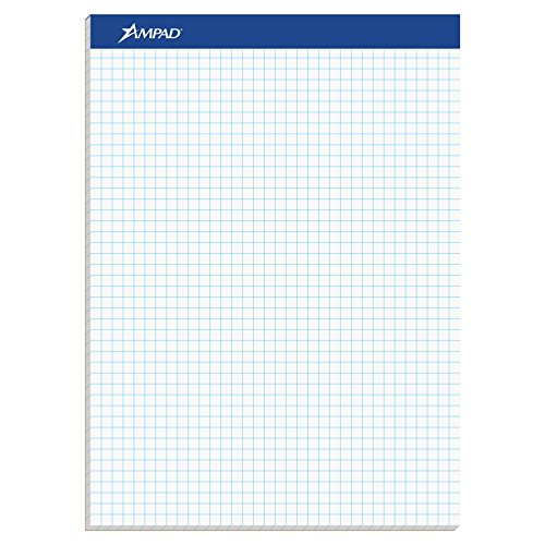Drafting paper amazon ampad evidence quad dual pad quadrille rule letter size 85 x 1175 white 100 sheets per pad 20 210 malvernweather Gallery