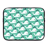 D-MUSE Cute Whales Laptop Bag Portable Waterproof Laptop Sleeve With Zipper Pocket/Notebook Computer Case/Ultrabook Tablet Briefcase Carrying Bags 13 Inch For MacBook Pro, MacBook Air, Notebook