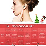 Mpow Single Wireless Earbud, V4.1 Mini Bluetooth Earbud, 6-Hr Playing Time Car Bluetooth Headset Invisible Headphone with Mic, Cell Phone Bluetooth Earpiece for iPhone Samsung Android (Two Charger