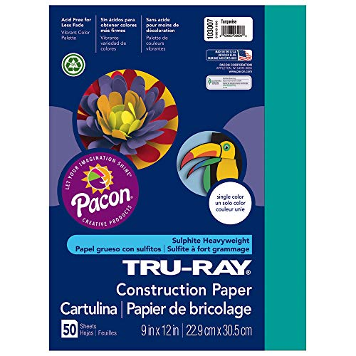 (Tru-Ray Heavyweight Construction Paper, Turquoise,  9