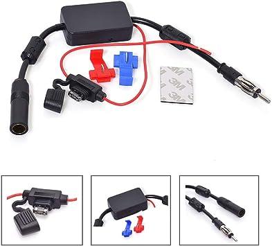Universal 12V Car Antenna Hidden Radio Amplifier Stereo FM//AM Receiver Aerial