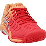 ASICS Womens Gel-Resolution 7 Tennis Shoe, Red Alert/Silver, Size 7