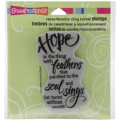 (STAMPENDOUS Cling Hope Sings Rubber Stamp)