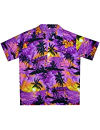 Funky Hawaiian Shirt For Men Short Sleeve Front-Pocket Surf Multiple Colors