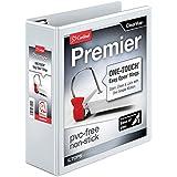 Cardinal Premier Easy Open ClearVue Locking Slant-D Ring Binder, 3-Inch, White (10330)