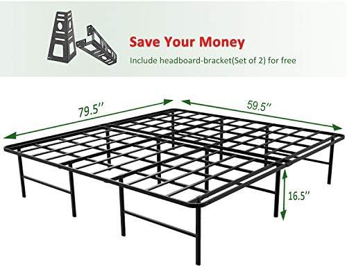 home, kitchen, furniture, bedroom furniture, beds, frames, bases,  bed frames 11 image 45MinST 16 Inch Platform Bed Frame/2 Brackets promotion