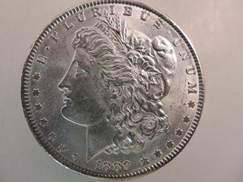 1889 Morgan Silver Dollar $1 AU (1889 Morgan Dollar Silver Coin)