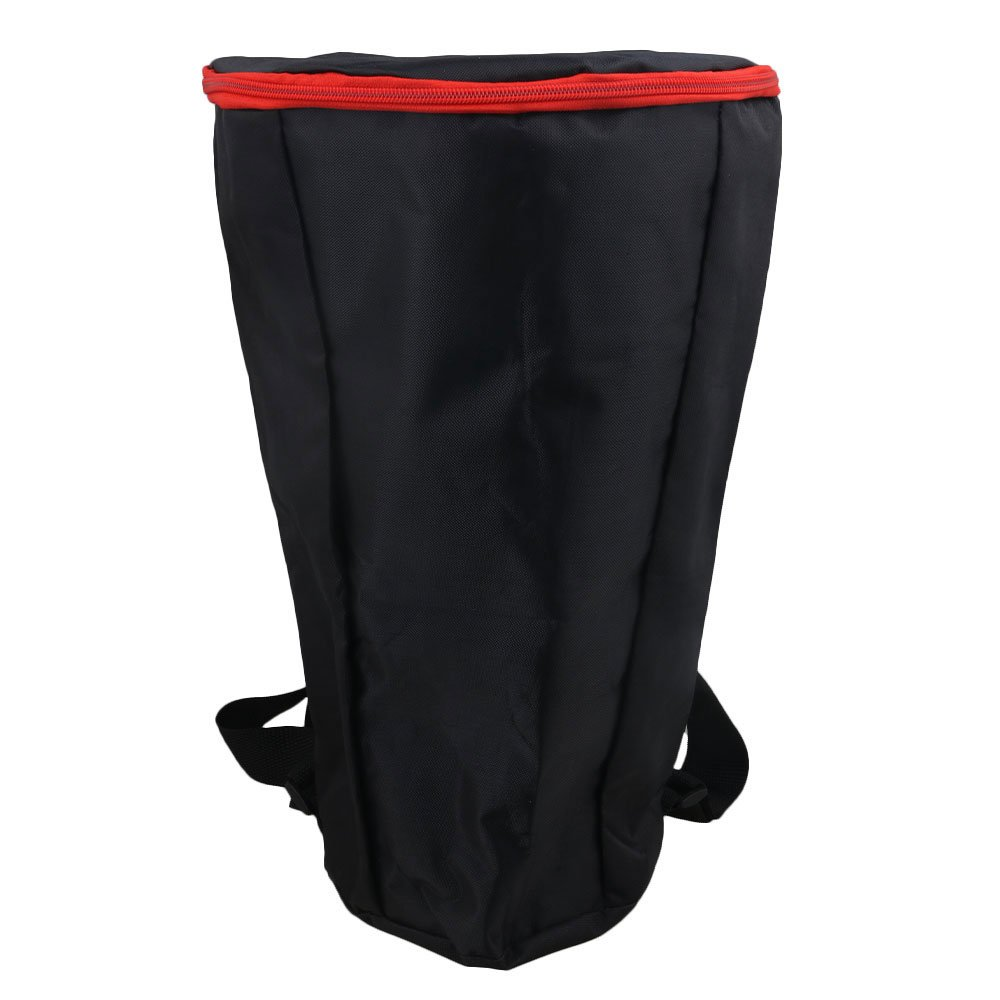 Yibuy Black Nylon Waterproof Drum Djembe Carry Case Gig Bag Backpack with Zipper for 12 Inch African Drum etfshop M7171201029