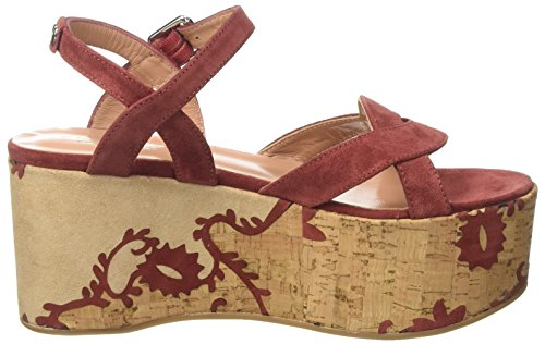 Twin Set CS7TUS, Sandalias con Plataforma Mujer Multicolor (Red Sand)