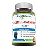Pure Naturals Acetyl L-Carnitine Capsules, 500 mg, 120 Count Review