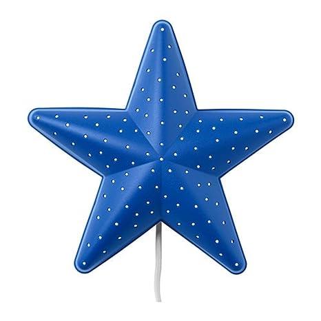 IKEA SMILA STJÄRNA Lámpara Infantil de pared Estrella azul