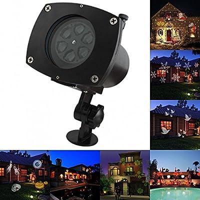 LED Projector Lamp Landscape Light Replaceable Lens Xmas Halloween Party Decor