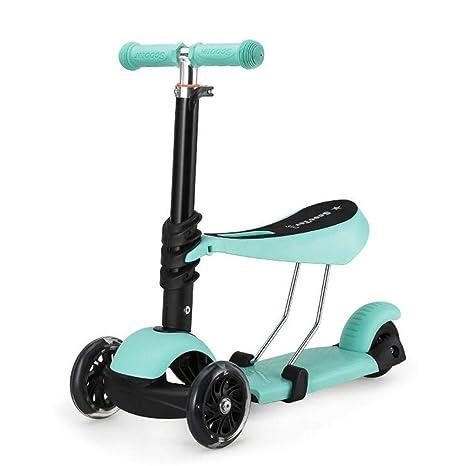 Lcxliga Micro Scooter Original de 3 Ruedas, Lean-to-Steer ...