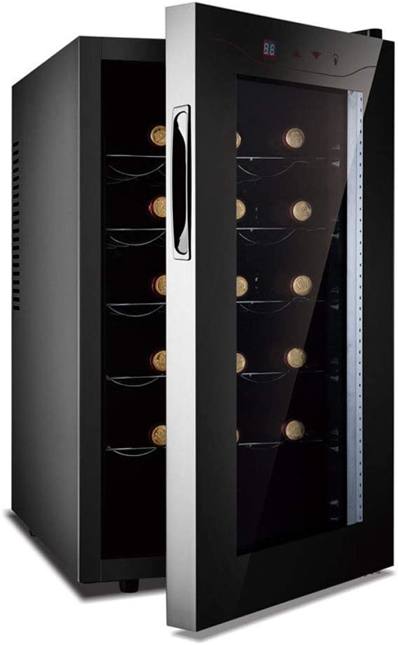 Lnspirational Gifts Decor Accessories 15 Bottles Wine Fridge Wine Refrigerator Wine Cooler Silent Temperature Zones 11-18 °Touchscreen Countertop Black