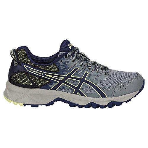 (ASICS Women's Gel-Sonoma 3 Running Shoes Stone Grey/Indigo Blue/Limelight 8 B(M) US)