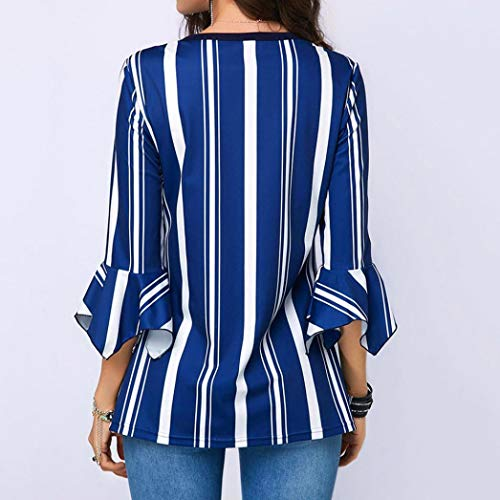 Chemisier Manches V Col Ray imprim Shirt T Tops Bleu Bringbring 3 Tunique Femme 4 xIqrRtEHIw