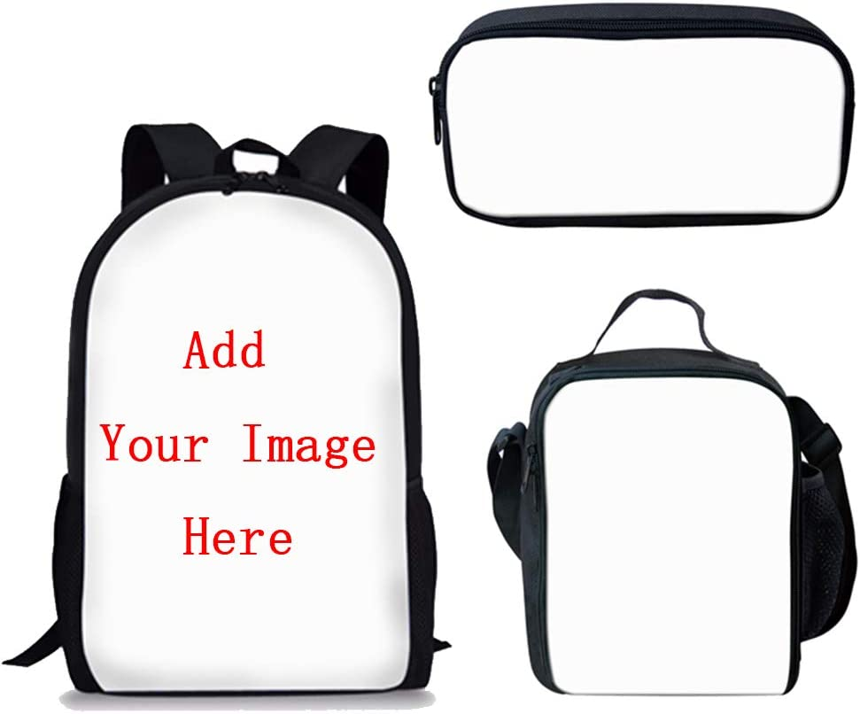 Customizable backpack satchel for nursery or kindergarten in grey and white