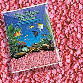 Pure Water Pebbles Nature's Ocean Aquarium Gravel Neon Pink Gravel 5-lb