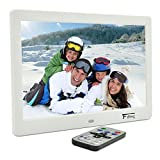 10.1 Inch Hi-Res TFT LED Digital Photo Frame & HD Video(1080P/720p)&Music Playback with Remote Control&Calendar/Clock Support 32GB SD Card