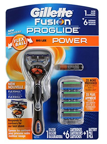 Fusion Proglide Flexball Power 1 Razor with 6 Cartridges