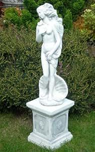 Escultura Venus de Botticelli en clásico columna H 84cm estatua de hormigón