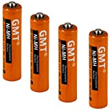 #2: GMT Panasonic Cordless Phone Batteries NI-MH Rechargeable AAA 750mah Extra Power (4 pack) Fast Recharge Lasts Longer | Replacement Battery for Panasonic Phones Models With HHR-4DP HHR-55AAABU KX-TG103