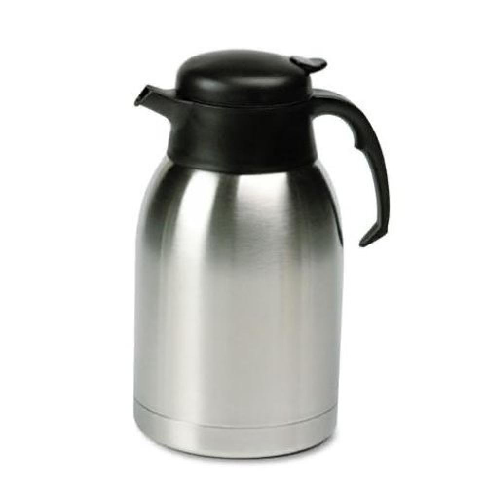 Hormel SVC190 - Stainless Steel Lined Vacuum Carafe, 1.9 Liter, Satin Finish/Black Trim