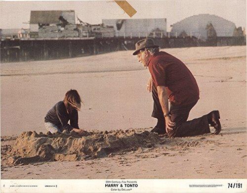 "Harry and Tonto 1974 Factual 11"" x 14"" Original Lobby Card Art Carney Drama"