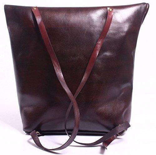 Dark Burgundy Leather Handmade Backpack
