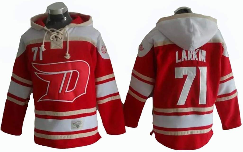 Gmjay NHL Equipo Nacional Ruso de Hockey sobre Hielo para Hombres 13# 71 Lacer Red Hoody Jersey Trikot Kapuzenpullover